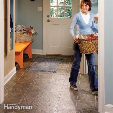 linoleum flooring laundry room install vinyl flooring in a laundry room family handyman
