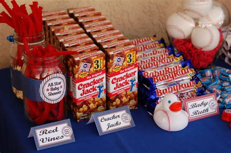 Vintage Baseball Baby Shower Decorations