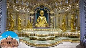 Garbhagruh (inner sanctum) of the Akshardham Mandir, New ...