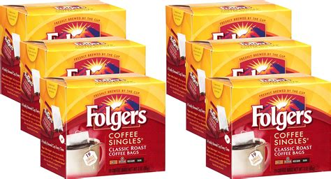 Folgers coffee singles are sold in packages. Amazon.com : Folgers Coffee Singles Classic Roast-19 Coffee Bags : Grocery & Gourmet Food