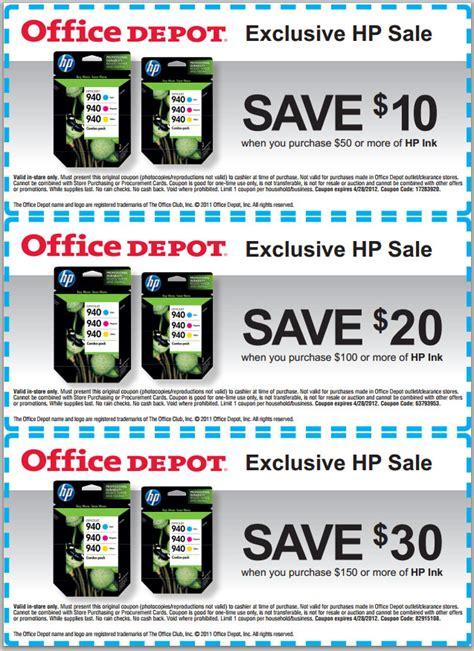 Office Depot Coupons Hp Toner by Office Depot Coupon Printer Ink Samurai Blue Coupon