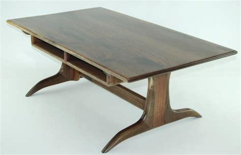 walnut trestle coffee table finewoodworking
