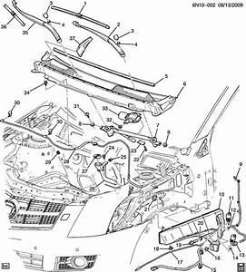 2011 Cadillac Srx Extension  Cowl Top Vent Louver