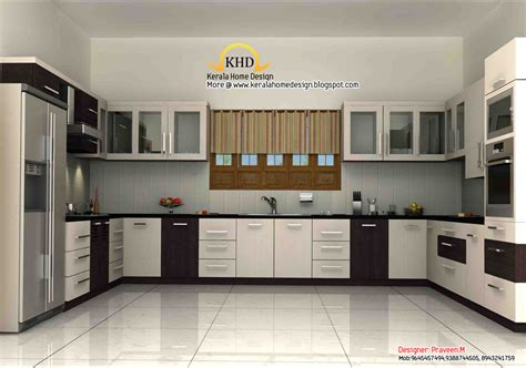home interior design for kitchen 3d rendering concept of interior designs kerala home design and floor plans