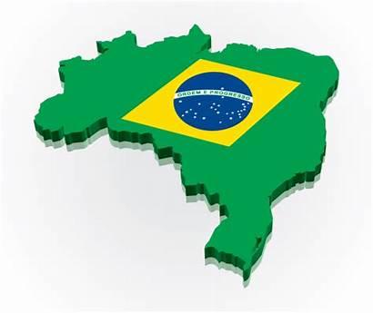 Brazil Flag Brazilian Clipart Vector Map 3d