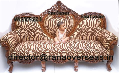 Wooden Carving Sofa Set by Rana Overseas Inc Wooden Carved Sofa Sets With