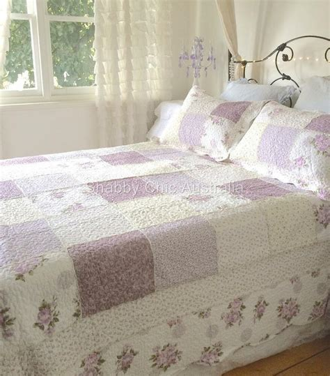 Lavender Coverlet by King Single Bed Country Lavender Shabby Roses Chic