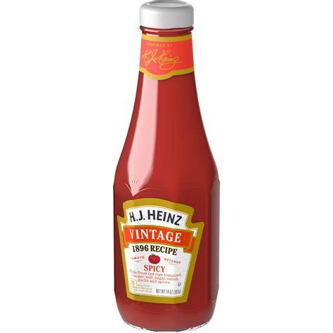 H.J. Heinz Vintage 1896 Recipe Spicy Tomato Ketchup 14 oz ...