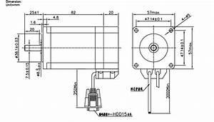 2 2n M Nema23 Closed Loop Stepper Motor Kits 3m Wires For