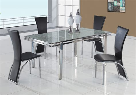 modern black dining table and chairs expandable glass dining table home design ideas