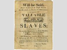 Education from LVA An Advertisement for Slaves