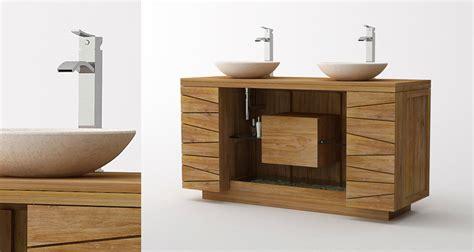 meuble teck de salle de bain kayumanis