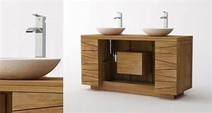 meuble teck de salle de bain kayumanis With meuble salle de bain design contemporain