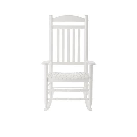 glossy white wood outdoor rocking chair it 130828w the