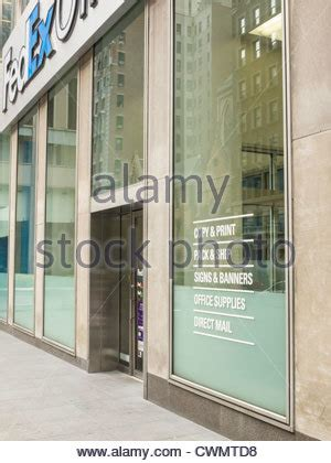 Fedex Kinkos Nyc Midtown by Fedex Office Storefront Nyc Stock Photo Royalty Free