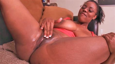 Fat Ebony Nerd Gets Fucked By A Huge White Cock