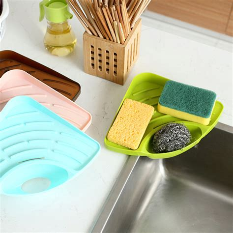kitchen sink sponge drawer cangdy color kitchen sink corner storage rack sponge