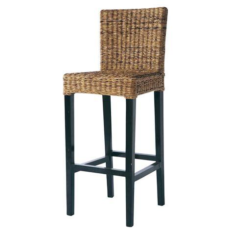 maison du monde chaise de bar chaise de bar en abaca et mahogany massif rangoon maisons du monde