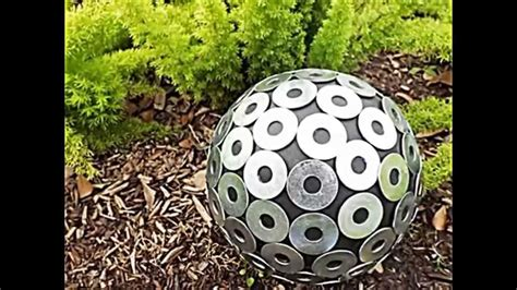 sommerliche garten deko ideen mit bowlingkuggeln zum selbermachen youtube