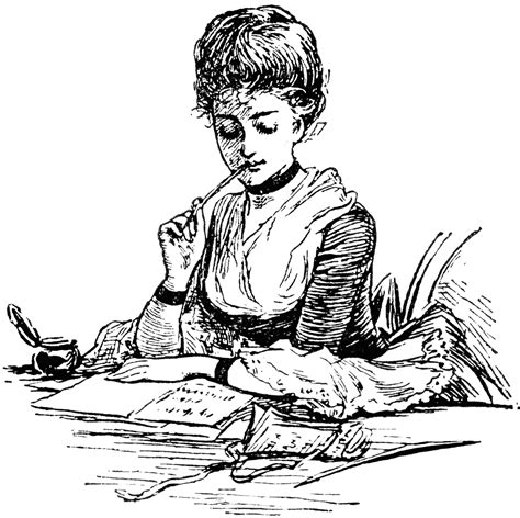 letter writing clipart