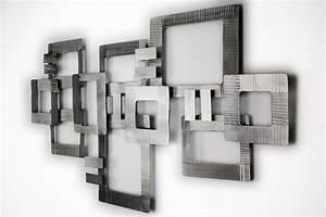 Wandschmuck Für Wohnzimmer : wanddeko metall 39 abstrakt silber vierecke 39 wandskulptur wandobjekt 69x122x5cm ebay ~ Sanjose-hotels-ca.com Haus und Dekorationen