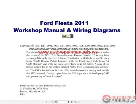 Ford Fiesta Workshop Manual Wiring Diagrams Auto