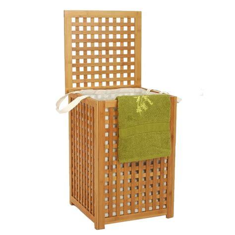 panier a linge en bambou panier 224 linge quot bambou quot beige