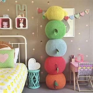 Pouf Chambre Enfant : le pouf au crochet confort et beaut la maison ~ Teatrodelosmanantiales.com Idées de Décoration