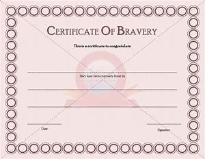 certificate templates free printable certificate With bravery certificate template