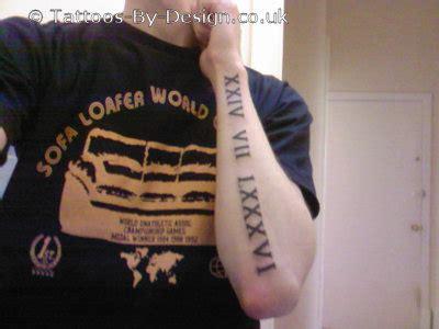 forearm roman numerals tattoos