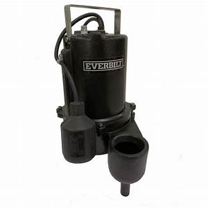 Everbilt 6/10 HP Sewage Pump-ESE60W-HD - The Home Depot