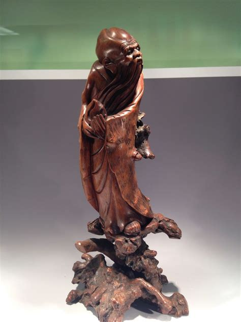 chinese root wood carved statue statue carving wood