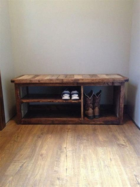 rustic shoe bench  woodlandrustic  etsy bench