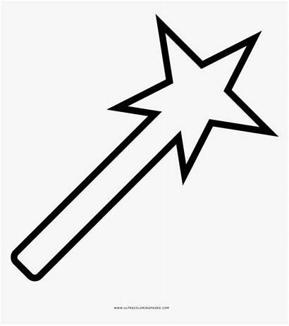 Wand Coloring Magic Clipart Star Magical Shooting