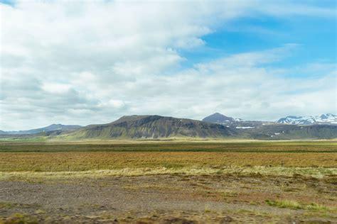 typical western iceland landscape typische west island