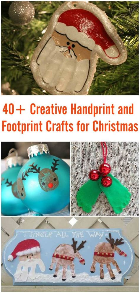 creative christmas art and craft 40 creative handprint and footprint crafts for