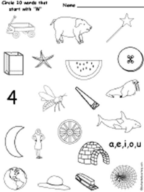 circle words  start   letter   alphabet