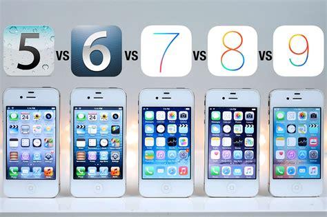 ios 8 for iphone 4 iphone 4s test szybkości ios 5 vs ios 6 vs ios 7 vs ios 8