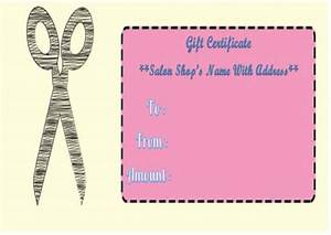 21 printable salon gift certificate templates to attract With haircut gift certificate template