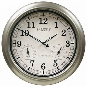 Wall clock temperature humidity photo wall clocks for Wall clock with temperature and humidity india