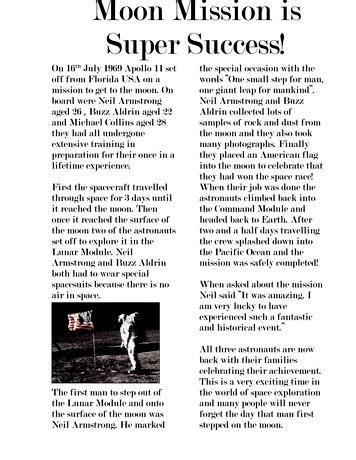 writing newspaper articles  ks english