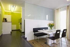 Offene Wohnung Wohnküche, Schlafzimmer und Bad ohne Wände