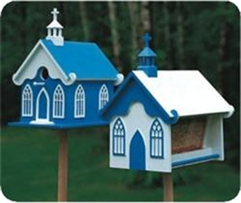 church birdhouse feeder patterns