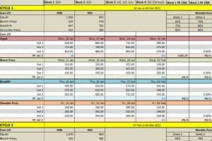 weight training spreadsheet templates word excel formats