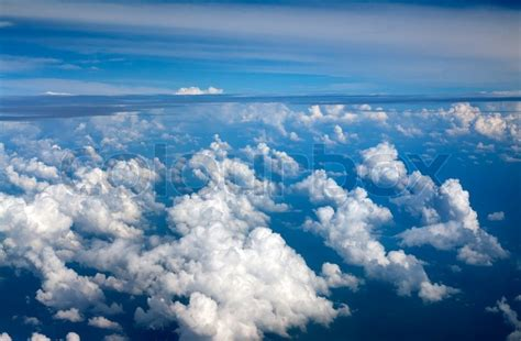 View Of The Sky by Clouds Against The Blue Sky View From Stock Image