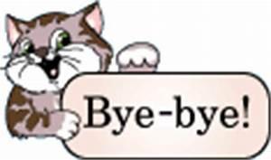 Bye-bye! Animated Cat :: Bye :: MyNiceProfile.com