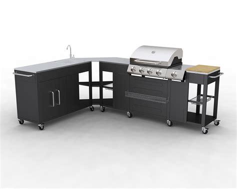cuisine professionelle barbecue gaz inox grand meuble cuisine exterieur