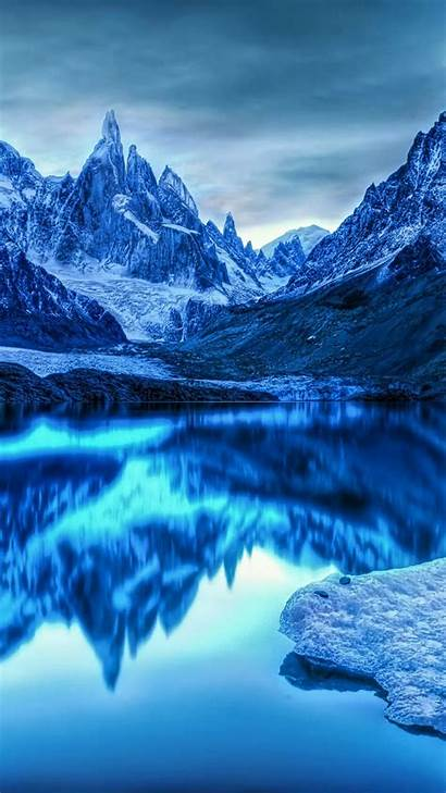 Wallpapers Ice Lake Cold Winter Galaxy Samsung