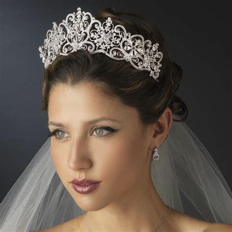 Wedding Tiaras rhinestone floral royal wedding tiara bridal