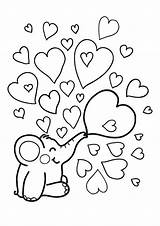Coloring Valentine Pages Heart Hearts Valentines Bestcoloringpagesforkids sketch template
